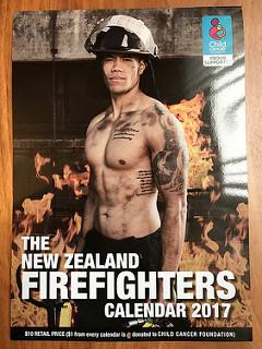 New Zealand Fire Fighters Calendar 2017
